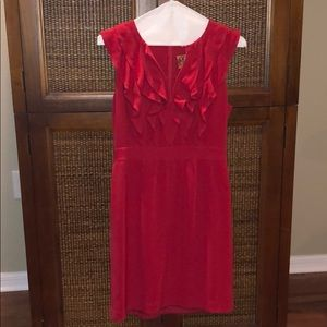 ❤️ Tory Burch Red Ruffle Cocktail Dress size 8 EUC